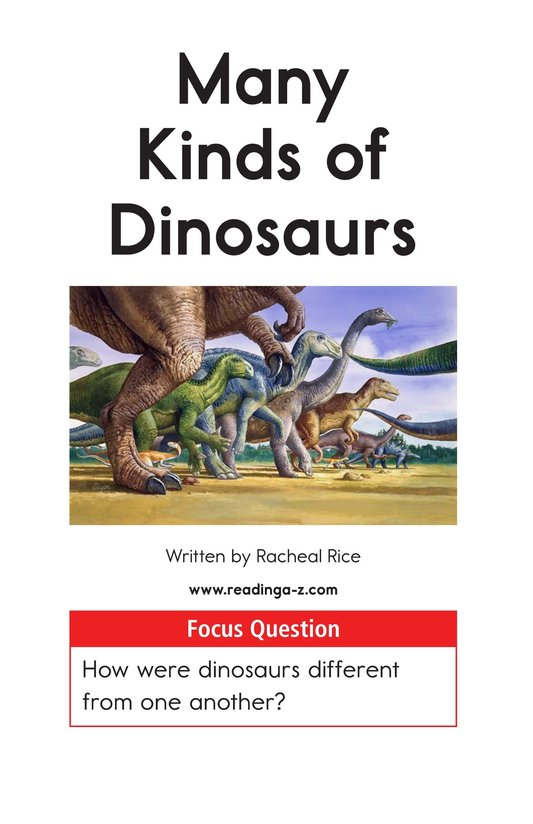 Book Preview For Many Kinds of Dinosaurs Page 1