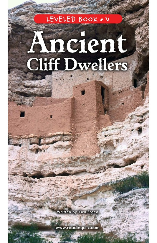 Book Preview For Ancient Cliff Dwellers Page 1