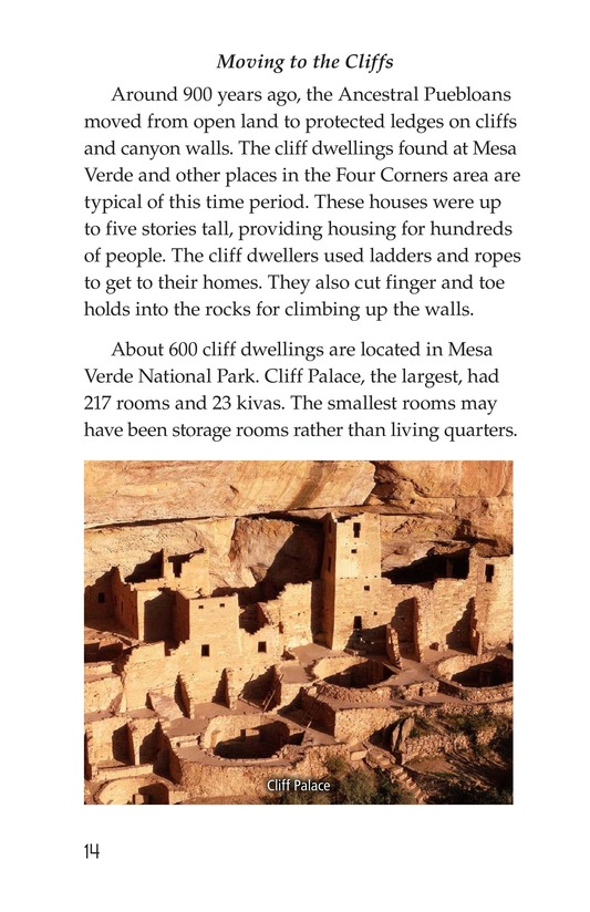 Book Preview For Ancient Cliff Dwellers Page 14