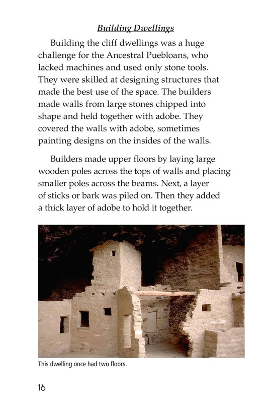 Book Preview For Ancient Cliff Dwellers Page 16