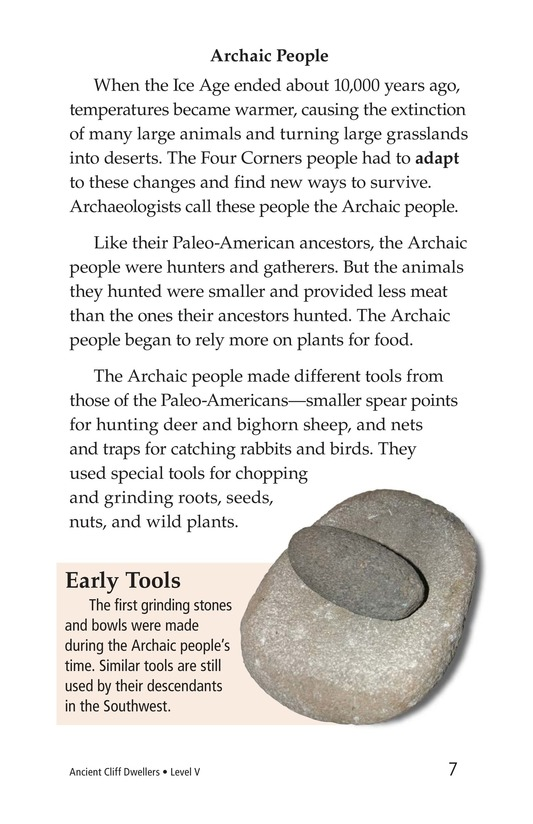 Book Preview For Ancient Cliff Dwellers Page 7