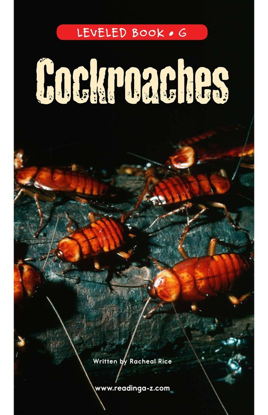 Book Preview For Cockroaches Page 0