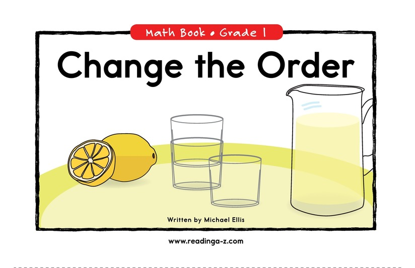 Book Preview For Change the Order Page 1