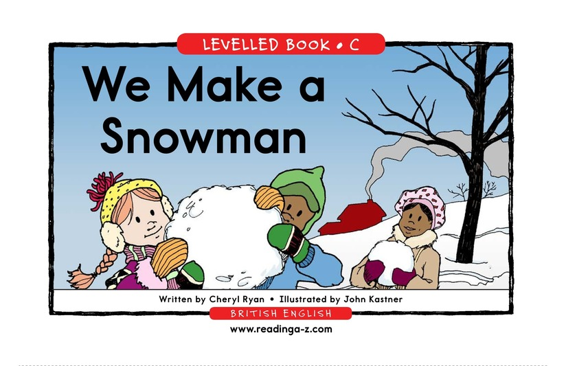 Book Preview For We Make a Snowman Page 1