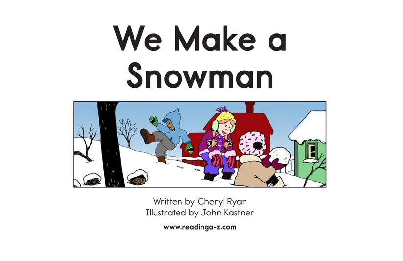 Book Preview For We Make a Snowman Page 2
