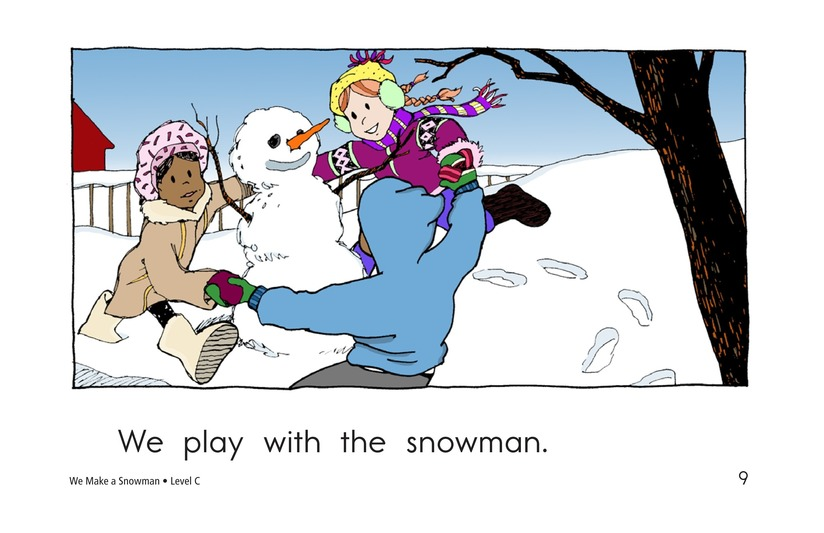 Book Preview For We Make a Snowman Page 9