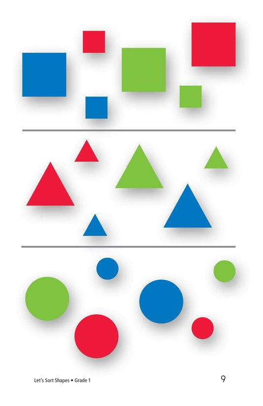 Book Preview For Let's Sort Shapes Page 9