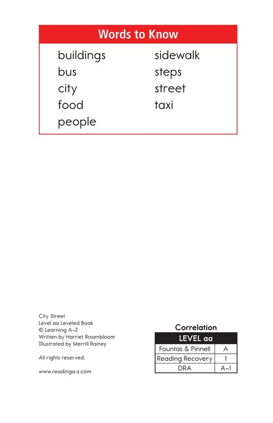 Book Preview For City Street Page 2