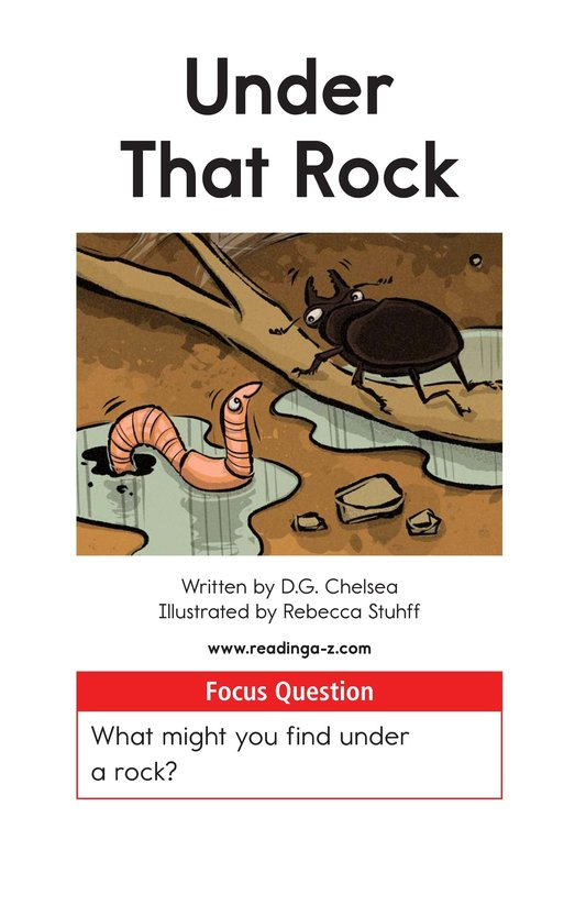 Book Preview For Under That Rock Page 1