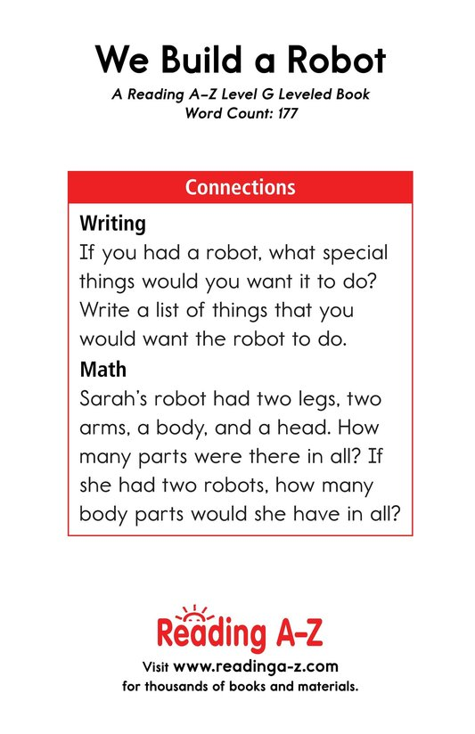 Book Preview For We Build a Robot Page 13