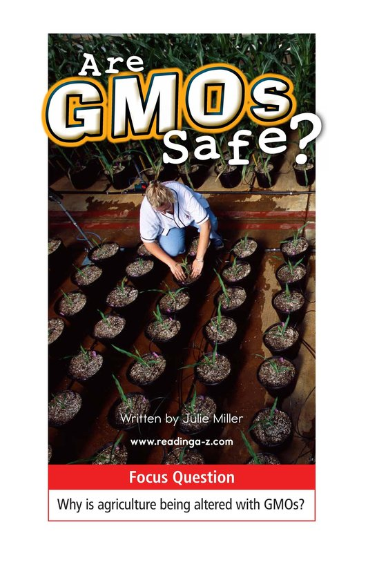 Book Preview For Are GMOs Safe? Page 1