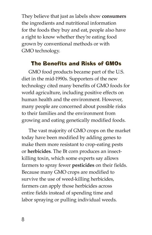 Book Preview For Are GMOs Safe? Page 8