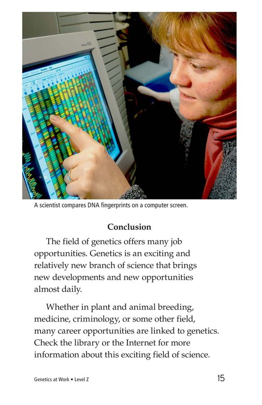 Book Preview For Genetics at Work Page 15