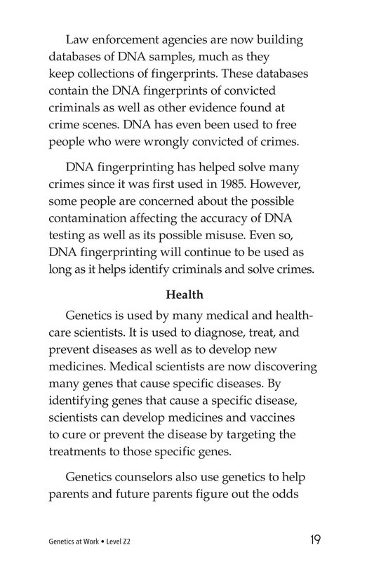 Book Preview For Genetics At Work Page 19