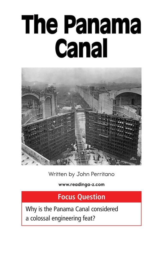 Book Preview For The Panama Canal Page 1