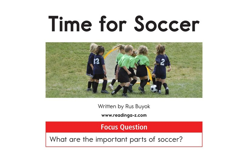 Book Preview For Time for Soccer Page 1