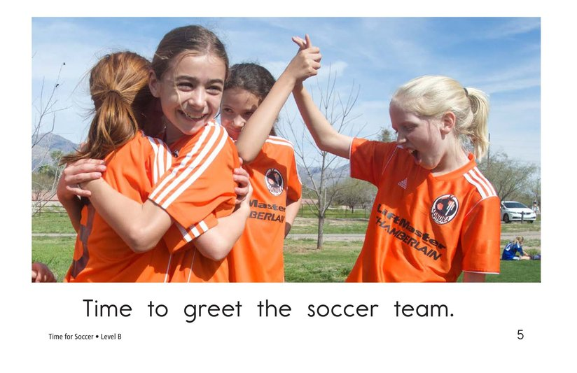 Book Preview For Time for Soccer Page 5