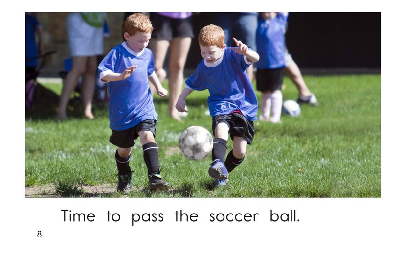 Book Preview For Time for Soccer Page 8