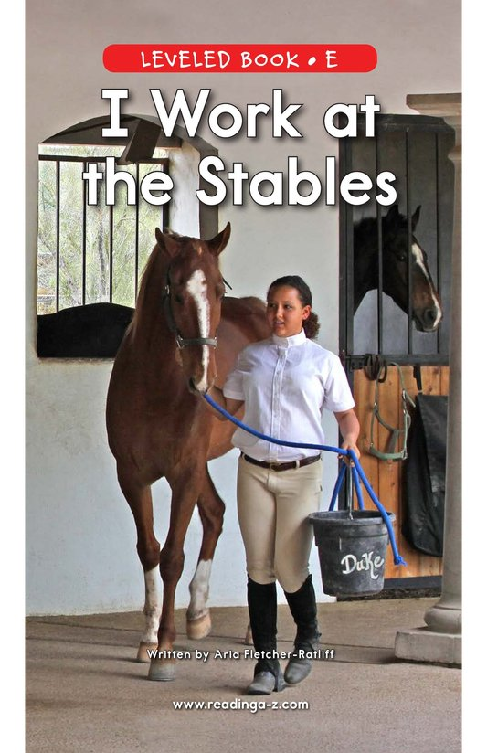 Book Preview For I Work at the Stables Page 0