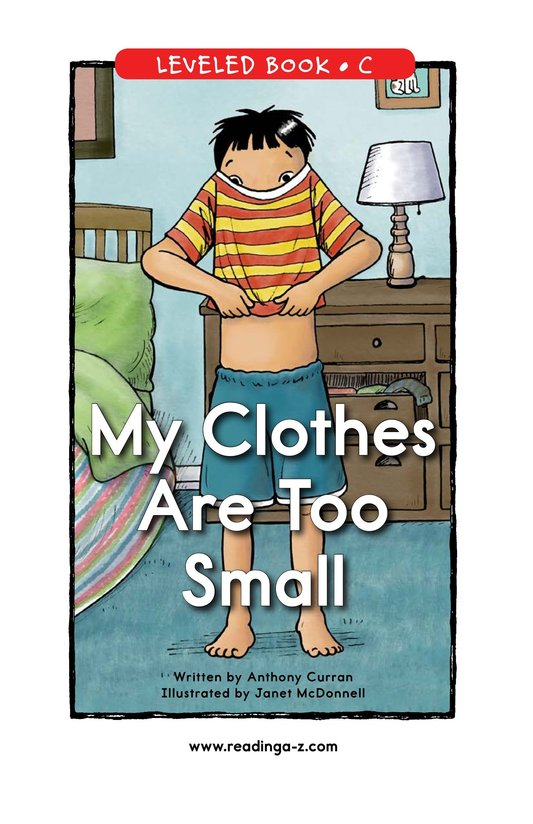 Book Preview For My Clothes Are Too Small Page 0