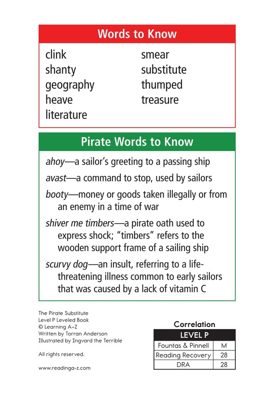 Book Preview For The Pirate Substitute Page 2