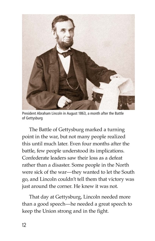 Book Preview For The Gettysburg Address Page 12