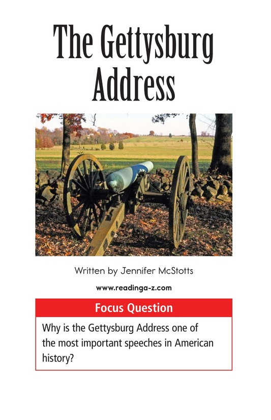 Book Preview For The Gettysburg Address Page 1