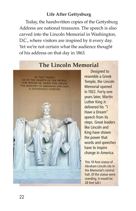 Book Preview For The Gettysburg Address Page 22