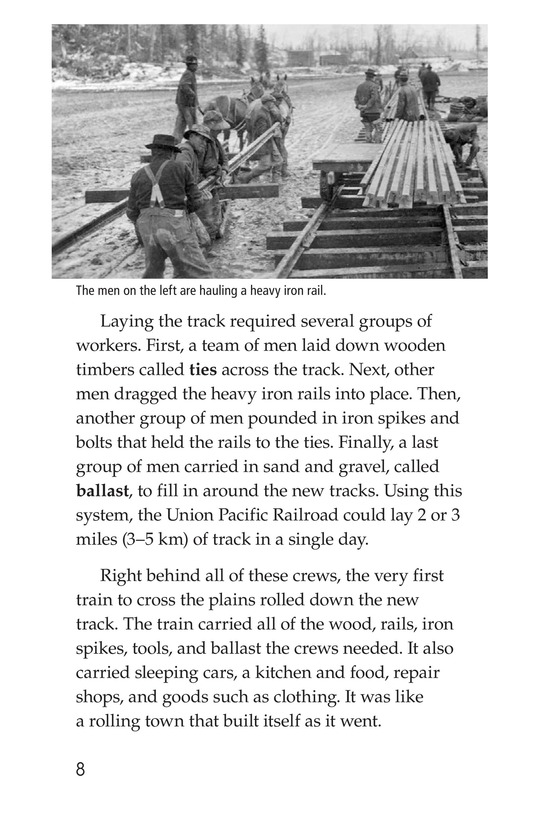 Book Preview For The Transcontinental Railroad Page 8