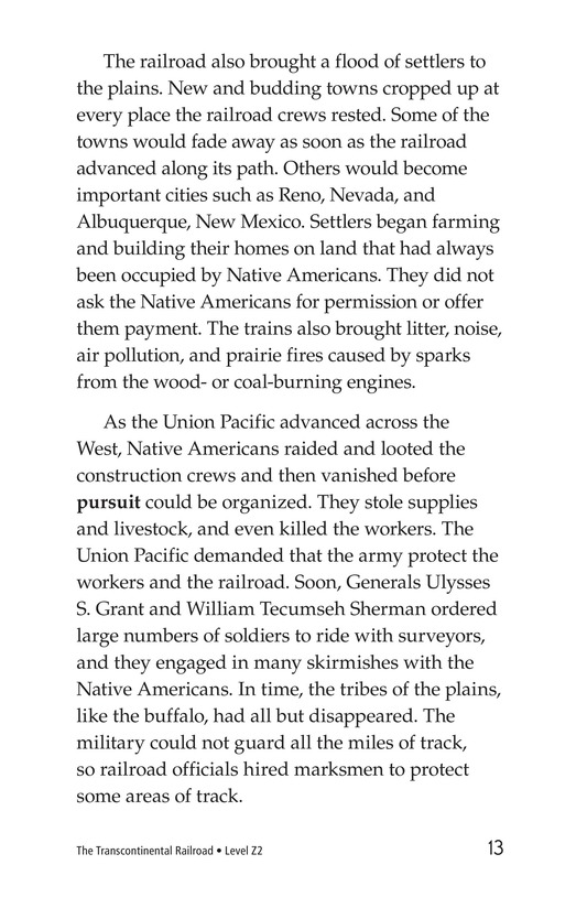 Book Preview For The Transcontinental Railroad Page 13