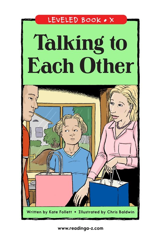 Book Preview For Talking to Each Other Page 1