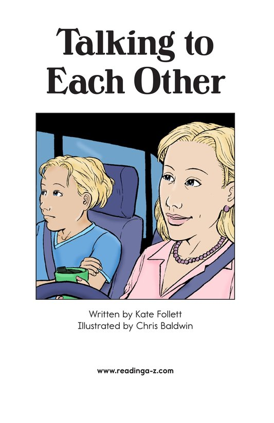 Book Preview For Talking to Each Other Page 2