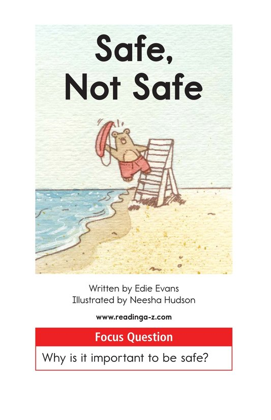 Book Preview For Safe, Not Safe Page 1