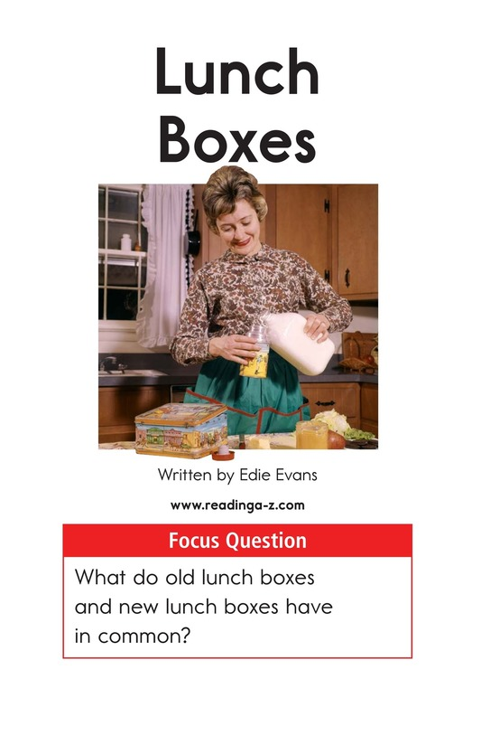 Book Preview For Lunch Boxes Page 1