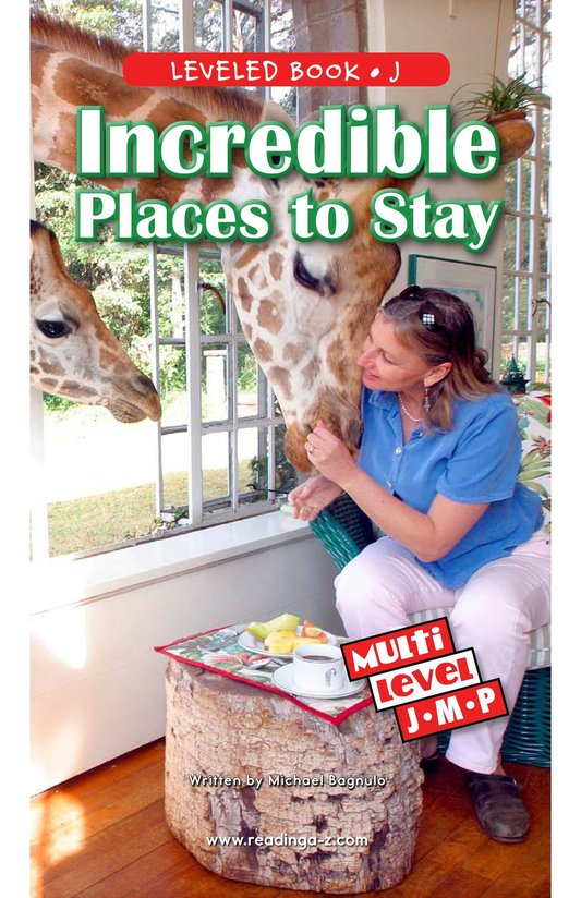 Book Preview For Incredible Places to Stay Page 0