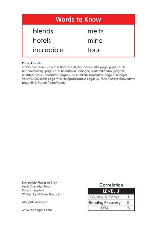 Book Preview For Incredible Places to Stay Page 2