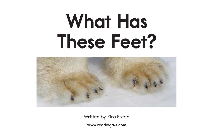 Book Preview For What Has These Feet? Page 2
