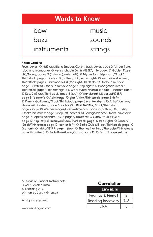 Book Preview For All Kinds of Musical Instruments Page 2