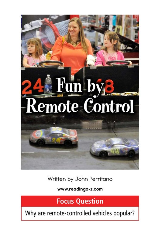 Book Preview For Fun by Remote Control Page 1