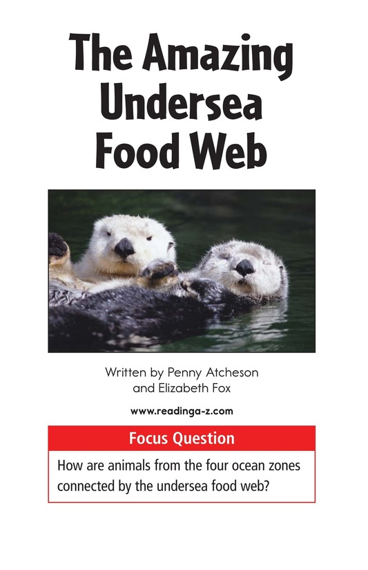 Book Preview For The Amazing Undersea Food Web Page 1