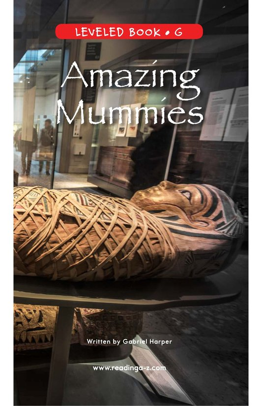 Book Preview For Amazing Mummies Page 0