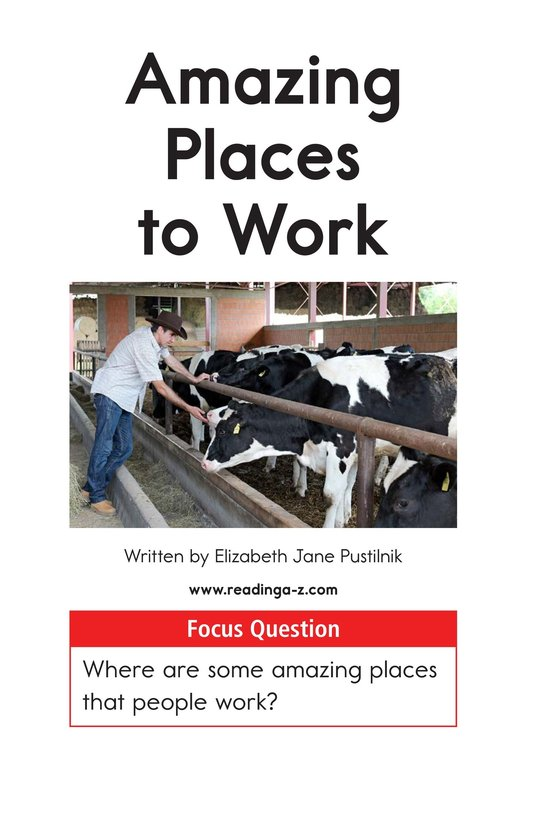 Book Preview For Amazing Places to Work Page 1