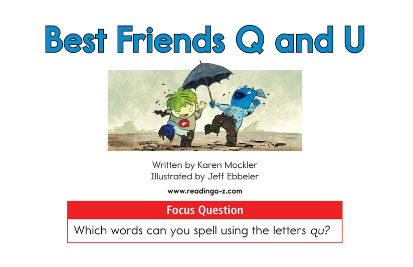Book Preview For Best Friends Q and U Page 1