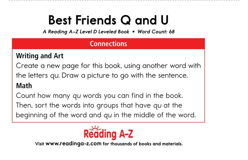 Book Preview For Best Friends Q and U Page 13