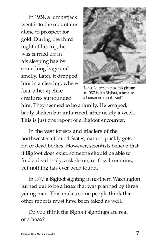 Book Preview For Believe It or Not? Page 7