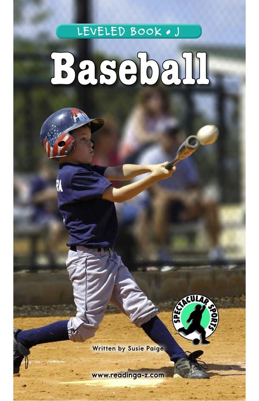 Book Preview For Baseball Page 0