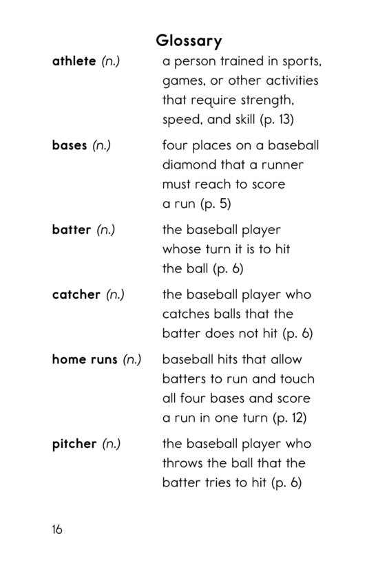 Book Preview For Baseball Page 16