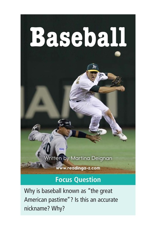 Book Preview For Baseball Page 1