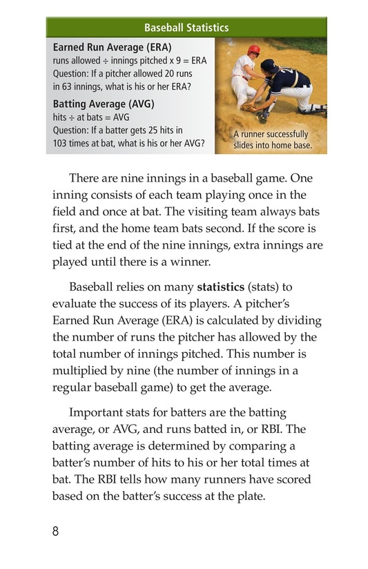Book Preview For Baseball Page 8