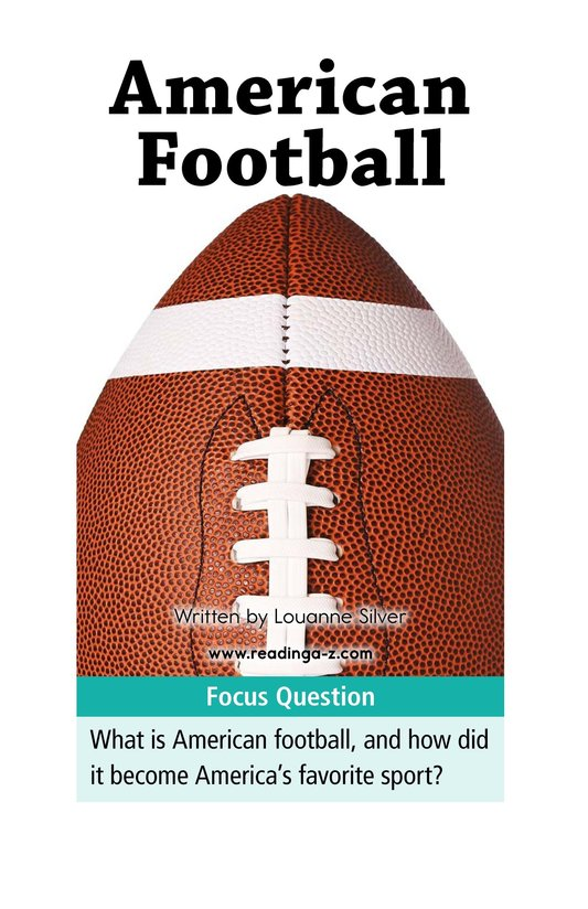 Book Preview For American Football Page 1